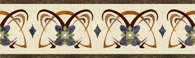 《水刀》瓷砖拼花(腰线》 效果图